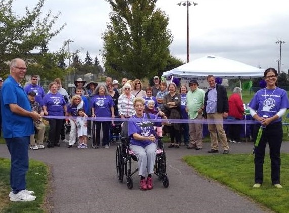 Our 2019 Walk, Run, and Roll for Thought ribbon cutting